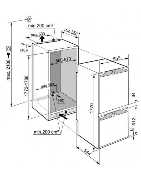 Liebherr IKV 3224 Comfort - Dimensions d'encastrement