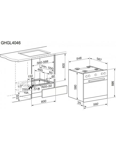 Electrolux GHGL4046WE blanc
