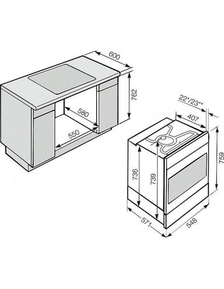 Miele H 6450-55 B inox