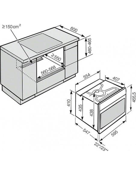 Miele H 6800-60 BP inox