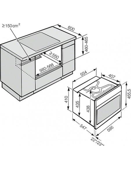 Miele H 6800-60 BPX Noir