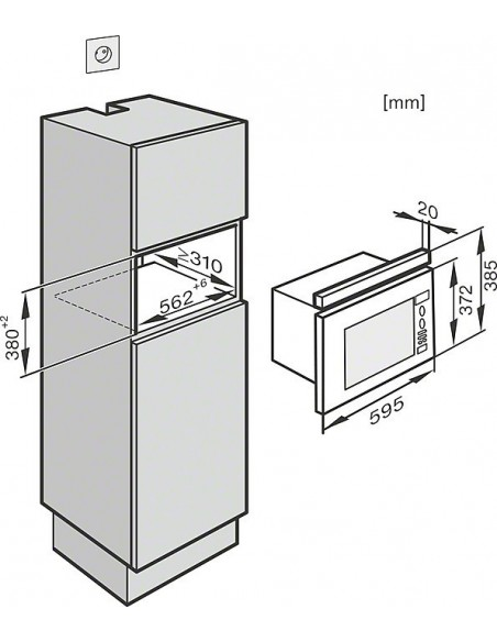 Miele M 6032-60 SC blanc