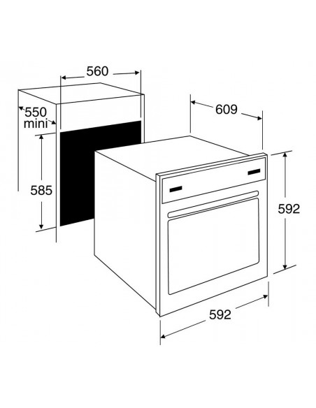 De Dietrich DOP1180X inox - dimensions