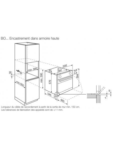 AEG BOBB noir - encastrement armoire haute