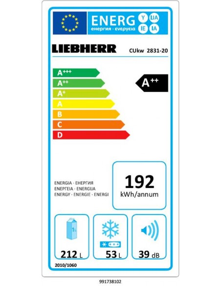 Liebherr CUkw 2831 Comfort - consommation