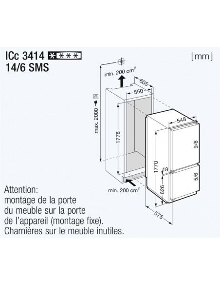 Liebherr ICc 3414 Comfort - dimensions
