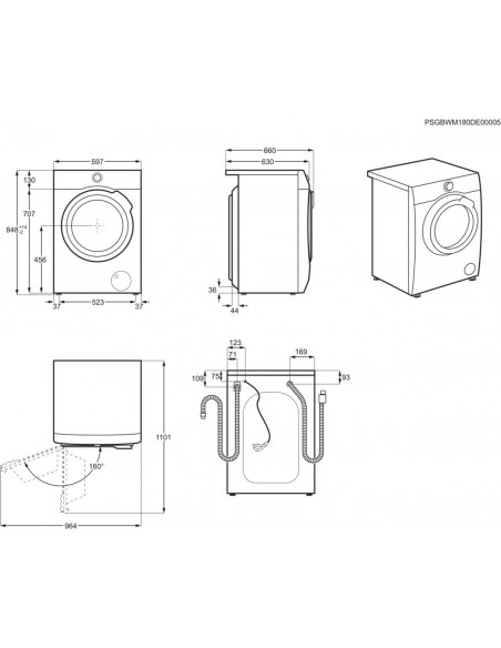 Electrolux WAGL7IE300 - dimensions