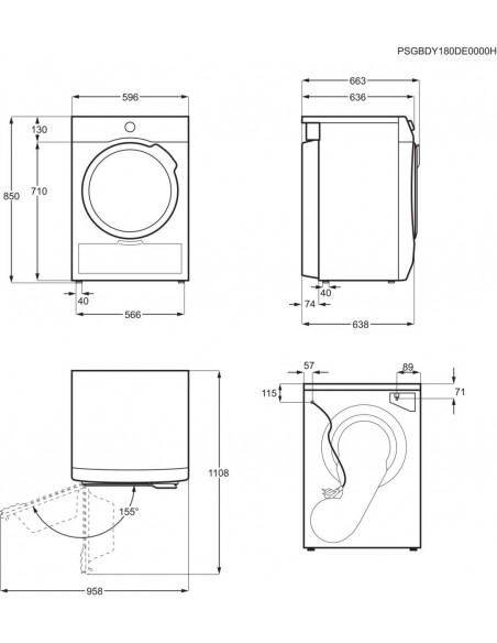 Electrolux TWSL4E302 - dimensions