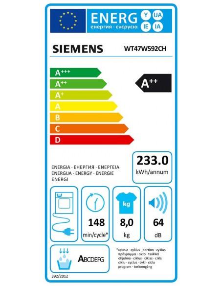 Siemens WT47W592CH iQ700 - consommation