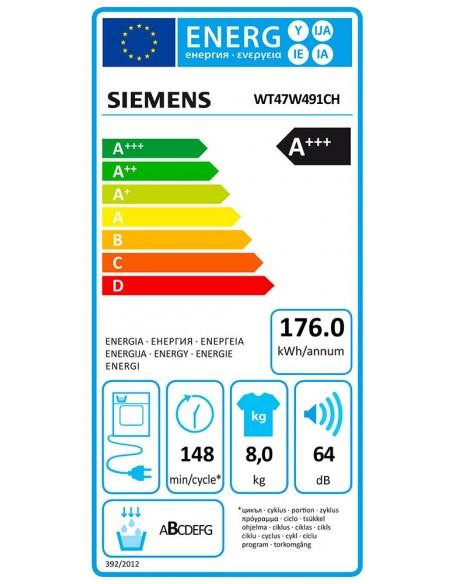 Siemens WT47W491CH iQ500 - consommation