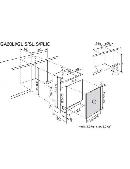 Electrolux GA60SLiCCN inox - dimensions