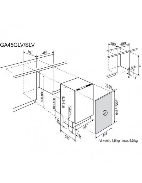 Electrolux GA45GLV - Dimensions