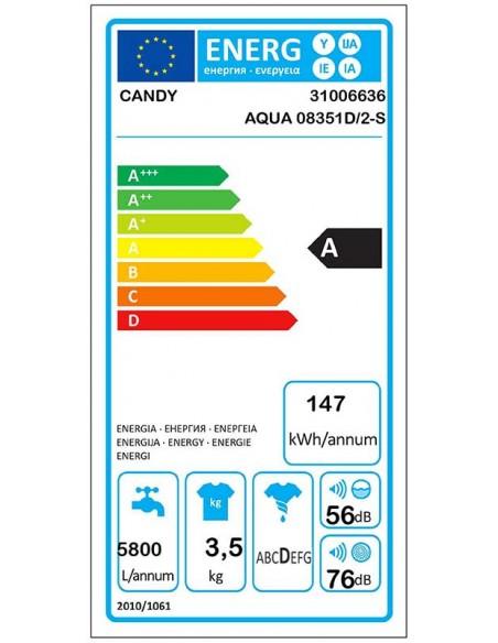 Candy AQUA 0835 1D/2-S - consommation