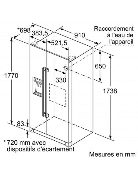 Bosch KAD90VI30 NoFrost - dimensions