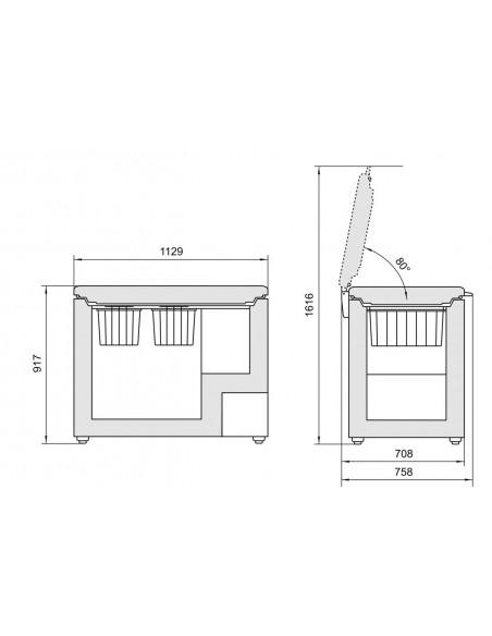 Congélateur coffre Liebherr GT 3632 Comfort - dimensions