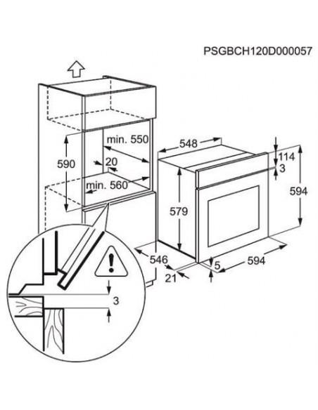 Electrolux EOC 5644 BOW - dimensions