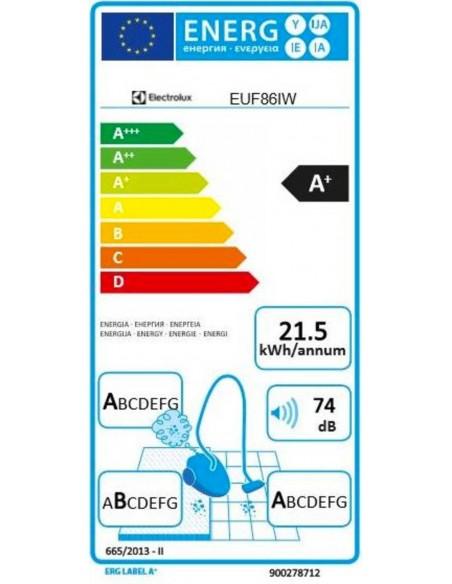 Electrolux UltraFlex EUF86iW sans sac - consommation
