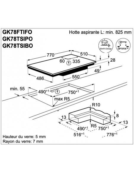 Electrolux GK78TSiBO - dimensions