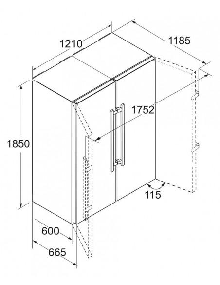 Liebherr SBSbs 8683 Premium - dimensions