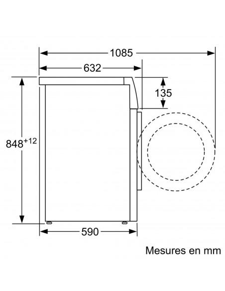 Bosch WAXH2E40CH HomeProfessional - dimensions