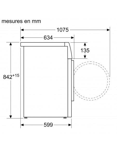 Bosch WTXH7M50CH Série 8 - dimensions