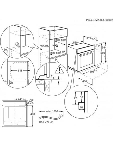 Electrolux EB6L80SP miroir - dimensions