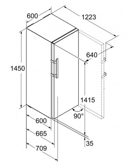 Liebherr GN 3235 Comfort NoFrost BluPerformance - dimensions