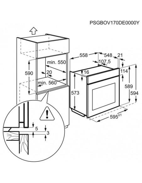 Electrolux EOD6P60W - dimensions