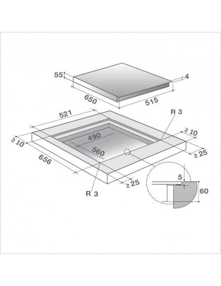 De Dietrich DPI7688XS - dimensions