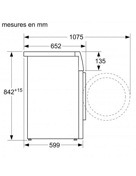 Siemens WT45W4A0CH iQ500 - dimensions