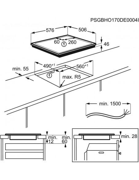 Electrolux GK58TSIBCN - dimensions
