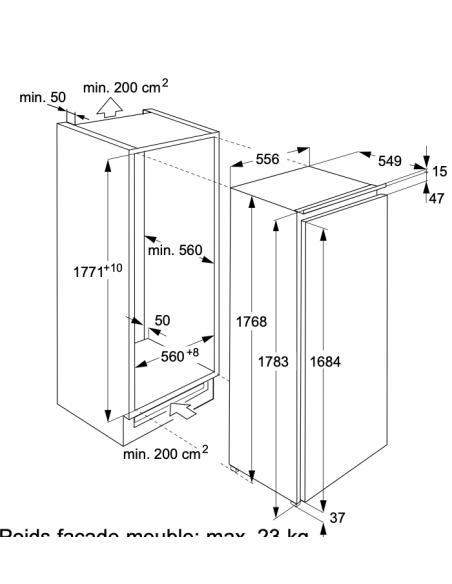 Electrolux IK2805SZ - dimensions