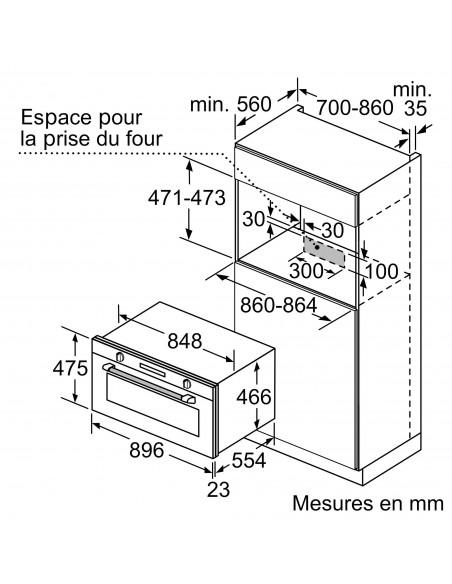 Siemens VB558C0S0 inox - dimensions