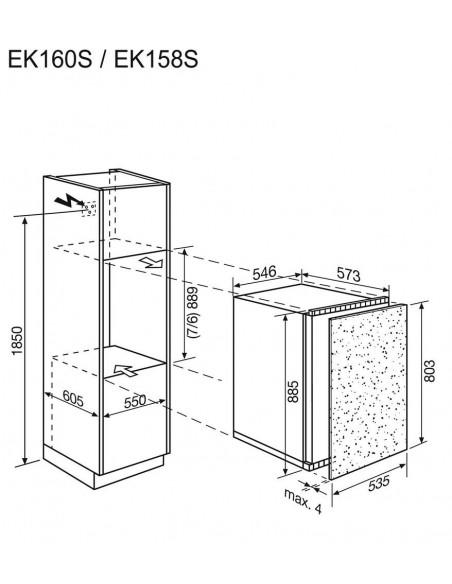 Electrolux EK158SWE blanc - dimensions