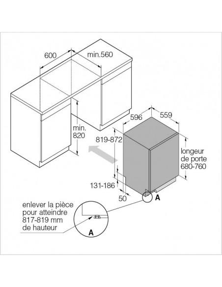 ASKO DFI 655G Style - dimensions
