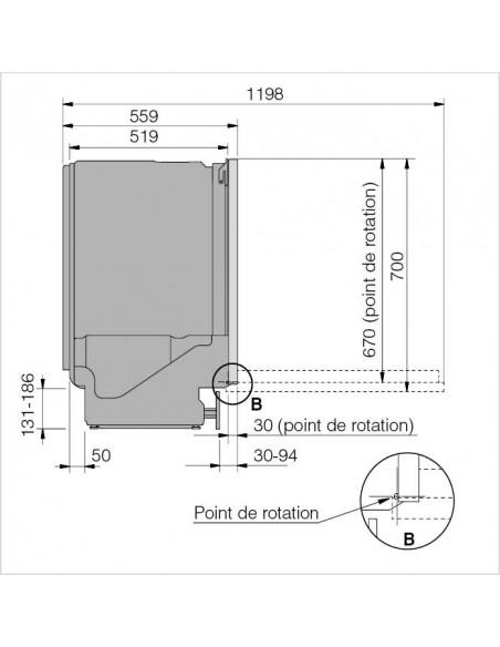ASKO DBi2332LIB.B noir Classic - dimensions