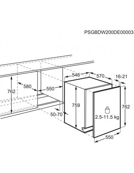 Electrolux GA55LV - dimensions