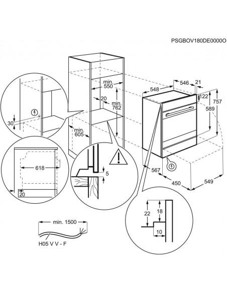 Electrolux EB7L4SW noir - dimensions