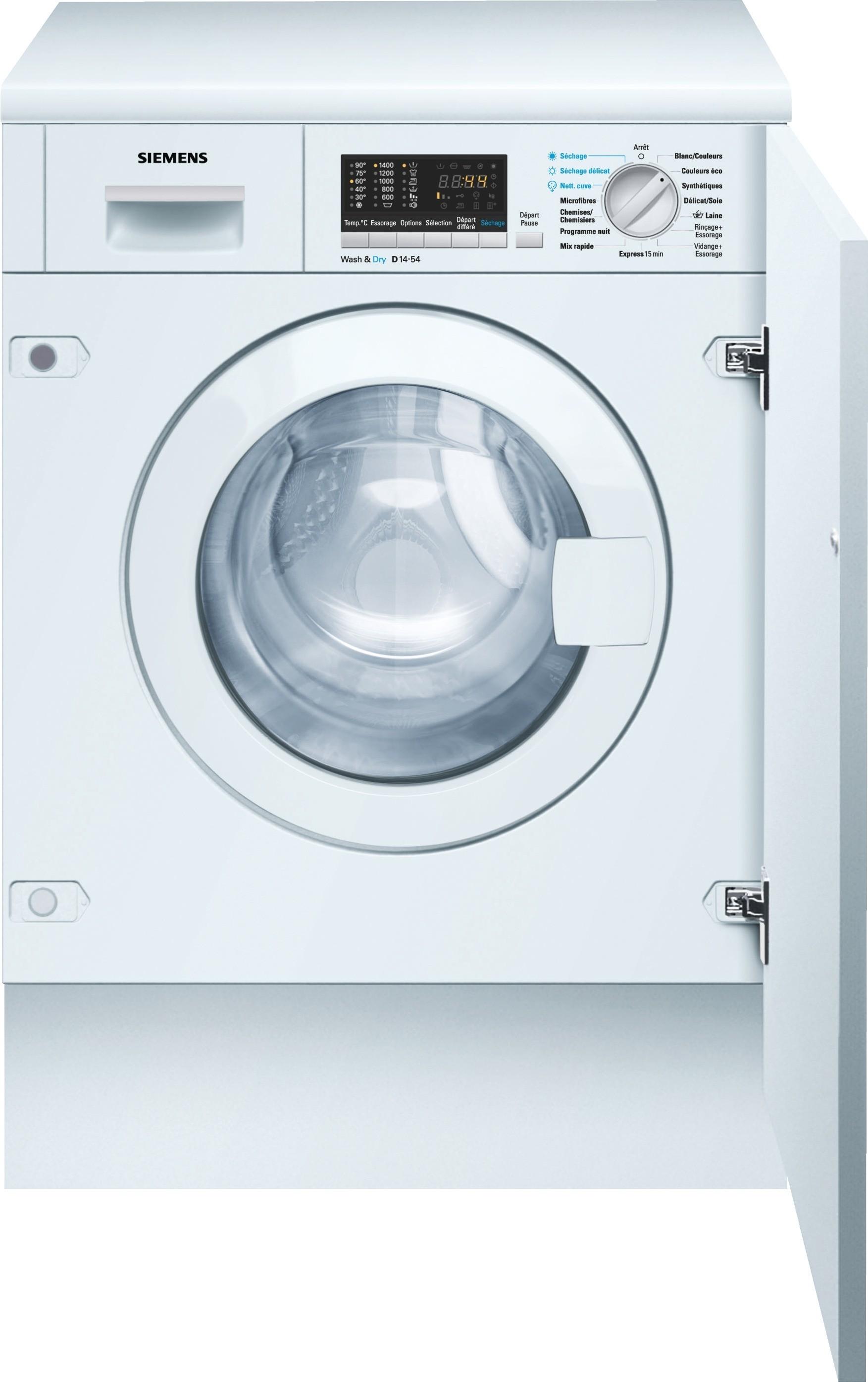 Machine À Laver Et Sèche Linge Intégré jean grunder - lavante séchante siemens wk14d540ch - vente