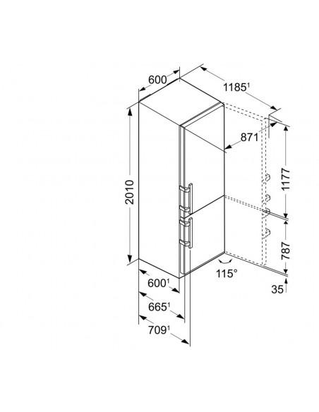 Liebherr CBNPbs 4858 Premium - dimensions