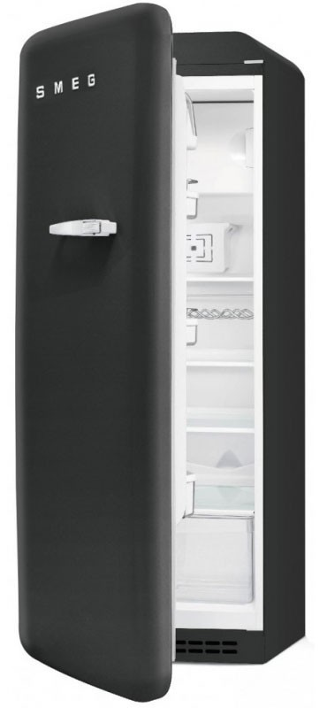 r frig rateur smeg fab28lbv3 noir velours charni re droite. Black Bedroom Furniture Sets. Home Design Ideas