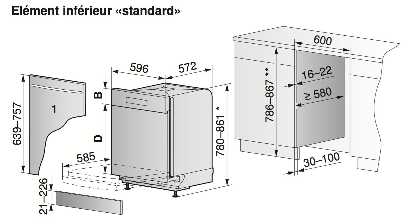 lave vaisselle zug adora 60 sl miroir steam finish. Black Bedroom Furniture Sets. Home Design Ideas