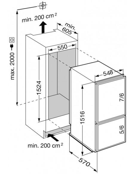 Liebherr ECcn 2866 Premium - dimensions