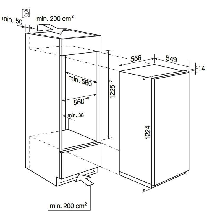 r frig rateur encastrable electrolux ik 2240 c livraison en suisse. Black Bedroom Furniture Sets. Home Design Ideas