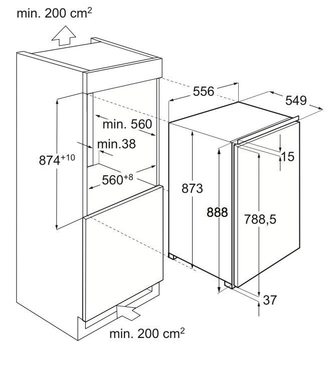 r frig rateur encastrable electrolux ik 1555 c livraison en suisse. Black Bedroom Furniture Sets. Home Design Ideas