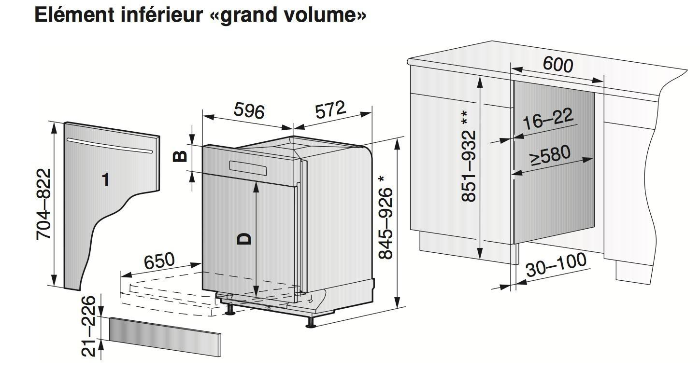 lave vaisselle zug adora 60 si chromclass grand volume suisse. Black Bedroom Furniture Sets. Home Design Ideas
