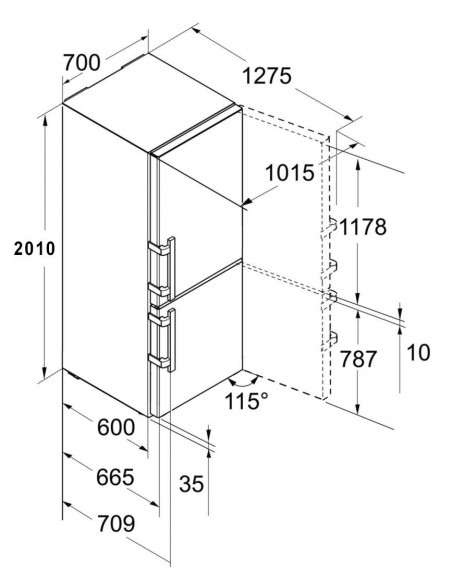Liebherr CN 5715 Comfort - dimensions