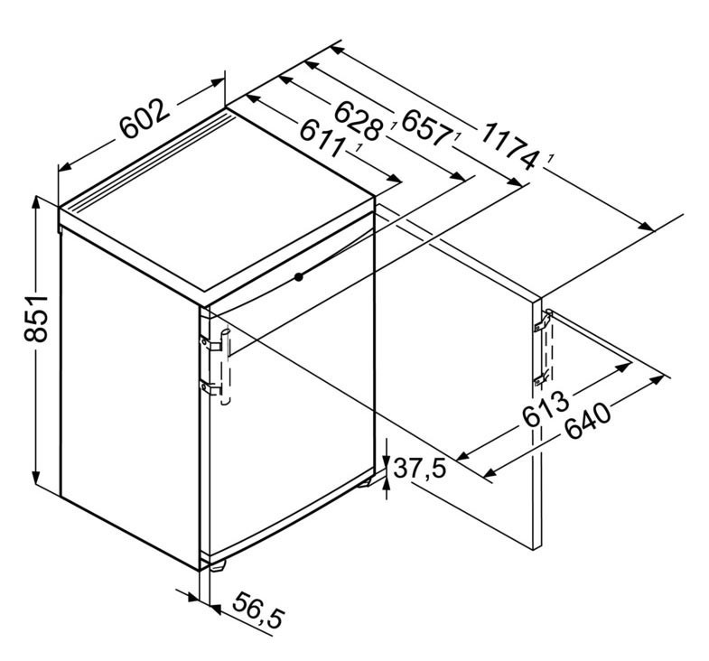 Congélateur table-top Liebherr GP 1486 Premium