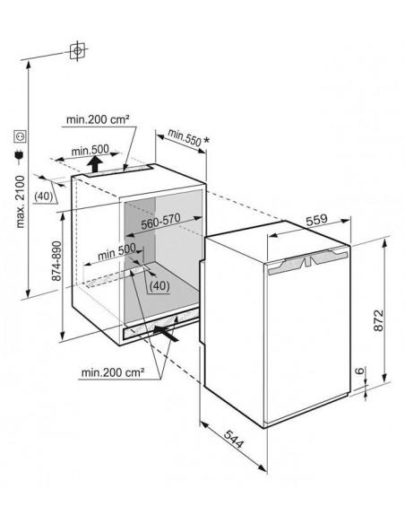 Liebherr IK 1620 Comfort - dimensions