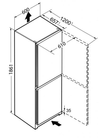Liebherr CNP 4313 FreshLine NoFrost - dimensions